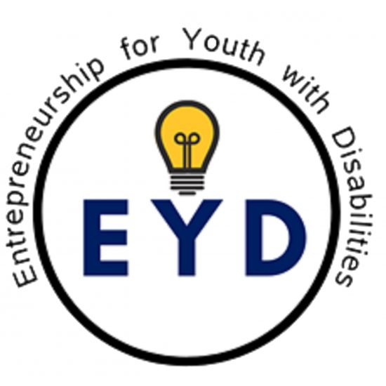 EYD circle logo with a yellow light bulb in the center